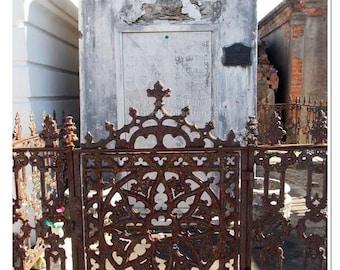 Revolutionary War Tomb and  Ironwork Photograph