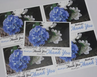 Hydrangeas & Gardenias Note Card Set - Southern Flowers Thank You Cards -Flat Notecards - theRDBcollection