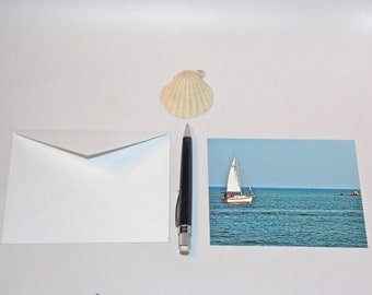 Sailboat Cards - Gulf Coast Notecards - Southern Photography - Boat in the Gulf Photo - Beach Stationery - theRDBcollection