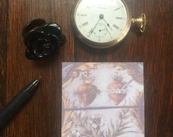 Sacred Hearts Sticky Note Pad