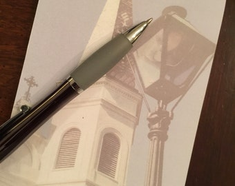 St. Louis Cathedral Notepad - New Orleans Pad - Jackson Square Photo - Religious Stationery - theRDBcollection