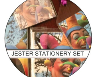 Jester Stationery Gift Set - New Orleans Carnival
