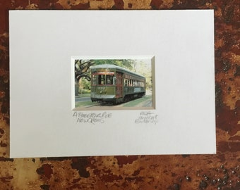 Streetcar Photograph Matted and Signed