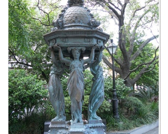 French Caryatids Fountain Photograph - New Orleans