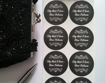 New Orleans Typography Stickers - Chalkboard Sticker