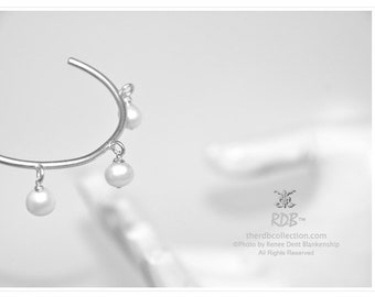 Pearl and Sterling Cuff - Southern Inspired