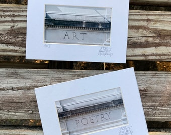 Art and Poetry Photos Matted and Signed Tiny Art
