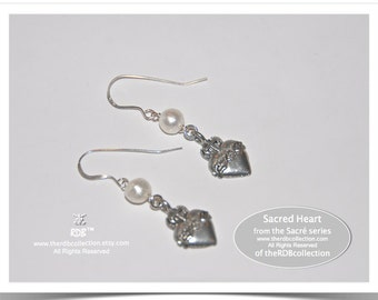 Sacred Heart Earrings - Sacre Coeur