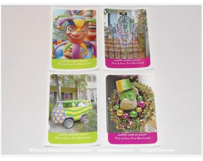 Mardi Gras Stickers - Jesters, Bead Gate, Mardi Gras Van, Carnival Pig Stickers