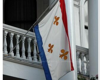 Fleur de Lis Flag Photography
