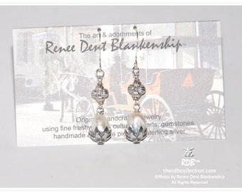 Pearl & Sterling Earrings