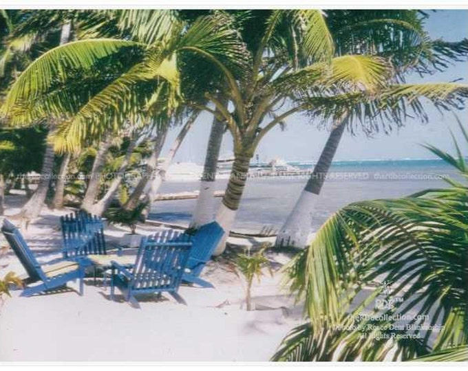 Blue Chairs at Beach Photography