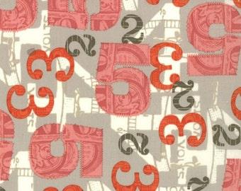 2wenty Thr3e  (Twenty Three) Pavement Grey Numbers  - LAST 1/2  YARD, Eric and Julie Comstock of Cosmo Cricket, Moda Fabrics