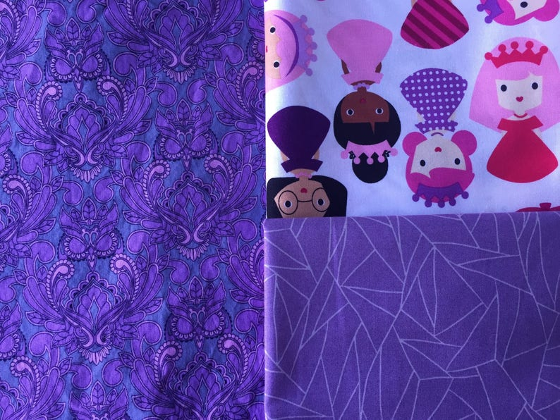 88aa1af5b49 Purple Owl Wisdom suck drool chew pads with ribbons reversible