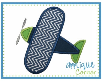038 Airplane applique digital design for embroidery machine by Applique Corner
