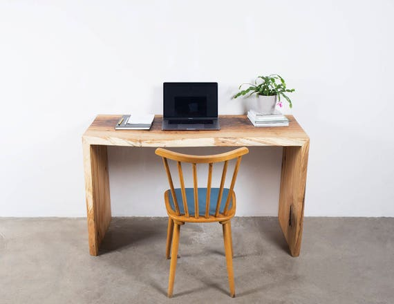 Chute deau bureau en chêne bureau en chêne massif chêne etsy