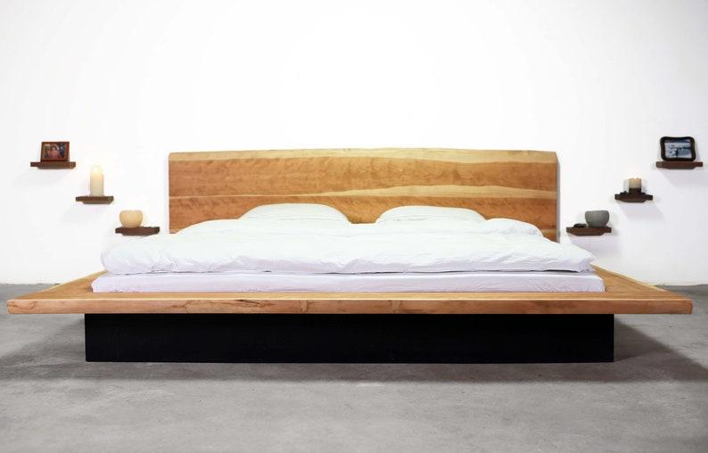 Lits, matelas En chêne massif cadre de lit Super King en bois ...