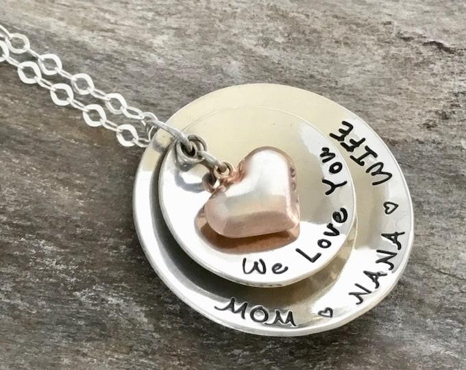 Christmas Gift for Grandma | Grandma Necklace| Gift for her | Grandmother Necklace| Heart Necklace | Grandma Gift| Gift for Grandmother
