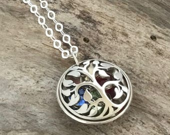 Grandmothers Birthstone Necklace, Family Tree Birthstone, Necklace For Grandma, Grandmother Necklace, Gift For Grandma, Grandma Jewelry