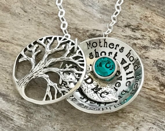 Mothers Birthstone Necklace, Family Tree Necklace For Mom, Personalized Mothers Necklace, Gifts For Mom, Personalized Mommy Necklace