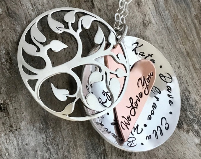 Mothers Day Personalized |Grandma Necklace | Family Tree Necklace For Grandmother | Grandma Necklace | Christmas Gift For Grandmother