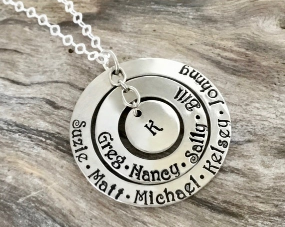 Personalized Necklace For Mom, Stamped With Kids Names, Mommy Necklace, Gift For Mom, Personalized gift, Mom Necklace, Necklace for moms