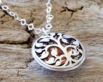 Family Necklace Personalized, Family Gifts Personalized Jewelry Necklace Locket, Family Gifts for Mom, Sterling Silver, Family Tree Necklace