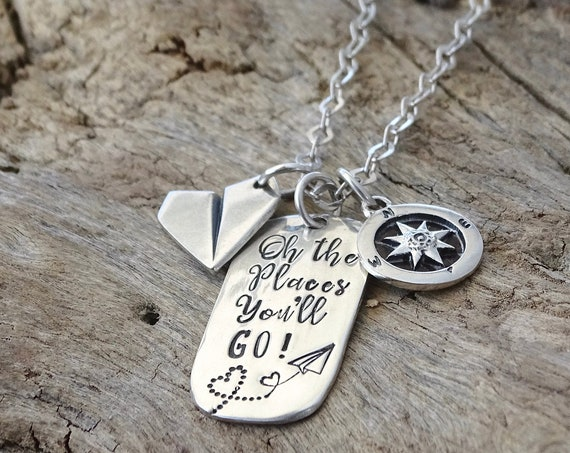 Graduation gift for her, graduation necklace, sterling silver necklace, college graduation gift, high school, for daughter, best friend
