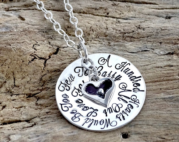 Personalized Grandma Necklace, Hand Stamped Jewelry, Personalized Jewelry, Grandma Heart, Gift for Grandma, Grandmother Necklace, Nana, Mimi
