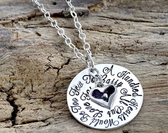 Gift for Grandma, Mothers Day Necklace, Grandma Necklace, Present for Grandmother,Sterling Heart Necklace,Personalized Jewelry, Mom Necklace