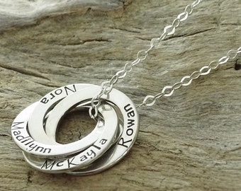 Grandma Gift - Personalized Grandma Gifts - Gifts for Mom - Personalized Grandmother Jewelry-Grandmother Necklace Grandma- Sterling Silver