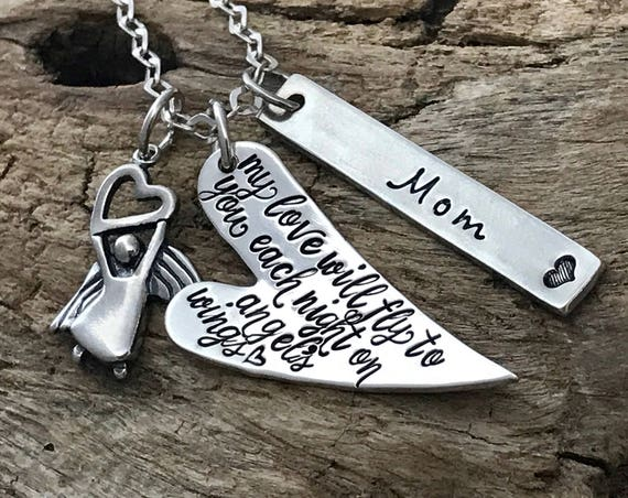 Memorial Gift Husband, Grief Necklace, Loss of Spouse, Angel, Memorial Jewelry, Memorial gift dad, Sympathy Necklace. Sympathy Gift Mother