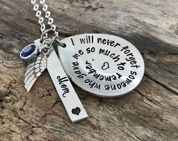 Memorial Necklace Sympathy Gift, Miscarriage Necklace, Remembrance Necklace For Loss Of Loved One