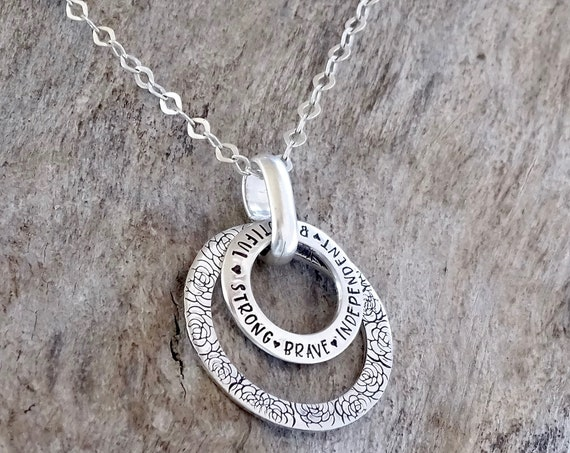 Gift for Her - Grandma Necklace - Character necklace - Sterling Silver - Gift for Mom