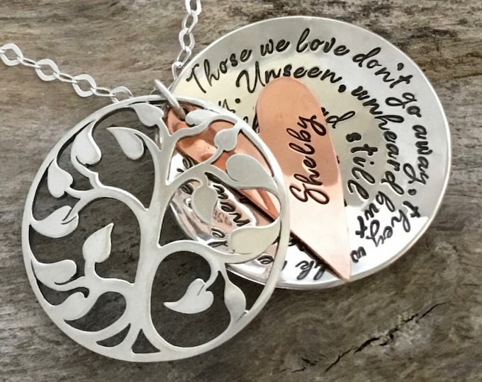 Memorial Necklace, Memorial Gift, Personalized Memorial Necklace, Memorial Jewelry, Remembrance Necklace, Keepsake, Loss of loved One