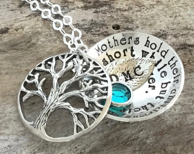 Christmas gift for Family, Sterling Silver Tree of Life Necklace, Locket Necklace, Family Tree Pendant, Mother Necklace