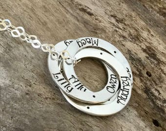 Mom Necklace Personalized With Kids Names, Mommy Necklace Gift, Mother Necklace With Childrens Names, Gift for Mom, Mother Necklace