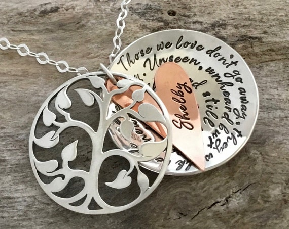 Remembrance Necklace, Memorial Gift|Bereavement Gift, In Loving Memory of, Sympathy Gift, Remembering a Loved One, Dad Sympathy Gift