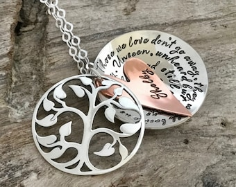 Custom memorial necklace | Sympathy gift | Remembrance Jewelry |Sterling silver |Memorial Jewelry |Personalized jewelry |Loss of loved one