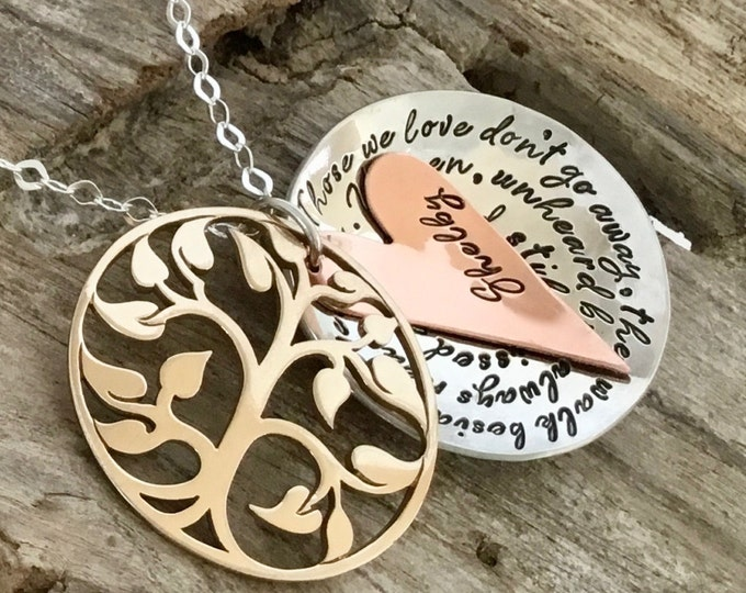 Memorial Necklace For Loss Of A Father, Memorial Necklace For Daughter, Bereavement Gift, Loss Of Father Sympathy Gift,Loss of Loved One