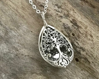 Mom necklace| Family tree necklace |Gift mom | Mother necklace | Gift for mom | Mom jewelry | Christmas Gift| Mother daughter |Step mom gift