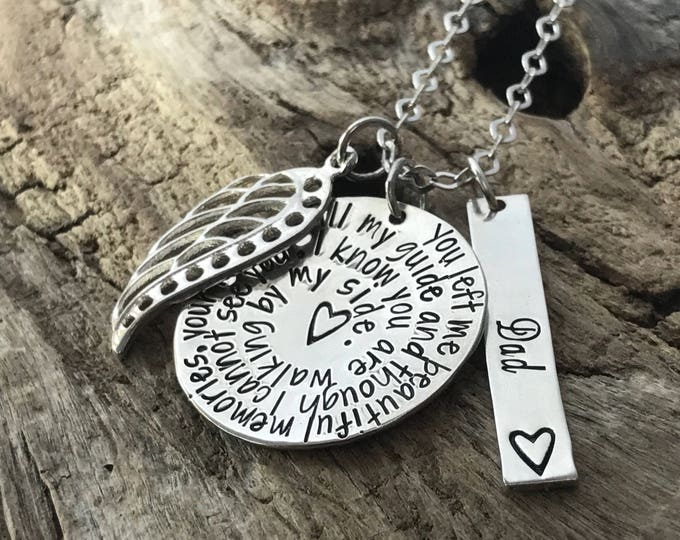 Loss of a dad, Sympathy necklace, Loss of a father, Remembrance Jewelry, Memorial Jewelry, Grieving loss of father , Grandpa memorial