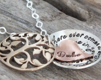 Winnie the pooh quote jewelry, If there ever comes a day we can't be together, Distance Necklace, Personalized, Hidden message necklace