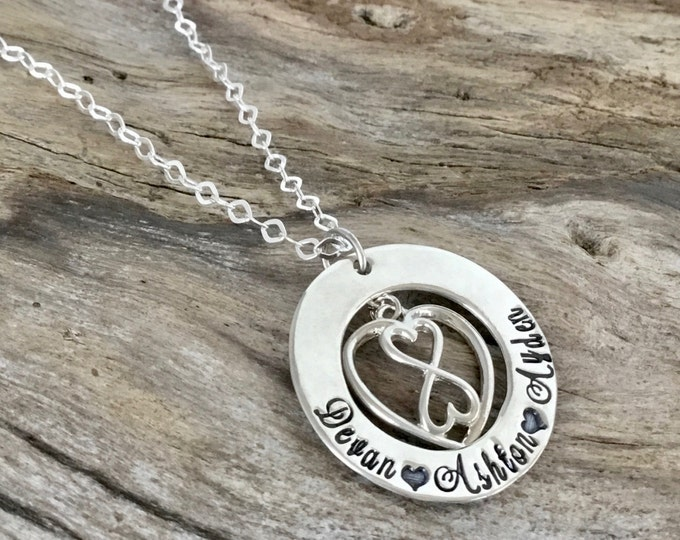 Infinity necklace, sterling silver, infinity jewelry, infinity, personalized jewelry, infinity pendant, gift for her, birthday gift