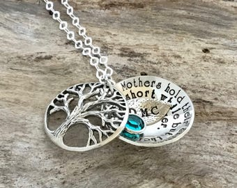 Tree-of-Life Necklace, Sterling Silver Tree of Life Necklaces, Tree of Life Pendant, Tree of Life, Family Tree of Life Necklace,Personalized