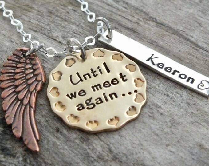 Memory of Necklace, Sympathy jewelry, Bereavement, Remembrance, Personalized Gift, Sterling Silver, Memorial Necklace, Gift keepsake