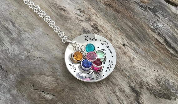 Birthstone Necklace, christmas Gift for Grandma, Birthstone Jewelry, Grandmother Jewelry, Personalized Gift, Nana Necklace, Grandma Jewelry