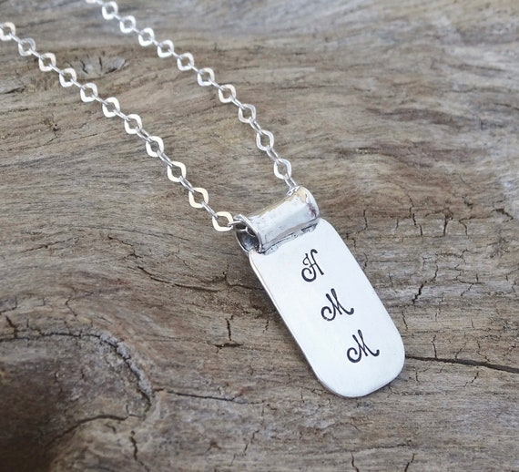 Initial Necklace, Personalized Jewelry, Gift for Her, Bridesmaid, Monogram Necklace, Initial Jewelry, Personalized Gift, Sterling Silver
