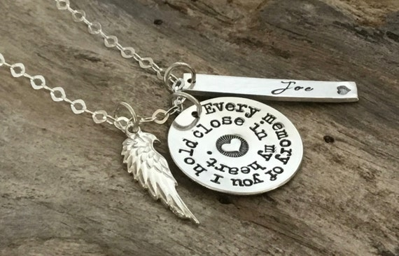 Memorial gift, Memorial Necklace, Funeral Gift for coworker, for friend, Memorial Jewelry, Memorial, Gift, Bereavement, loss of loved one