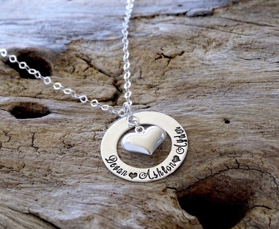 Puffy heart necklace, heart necklace, heart jewelry, sterling silver, heart name necklace, sterling heart, heart pendant, heart